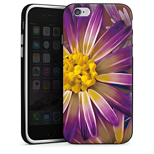 Apple iPhone 4 Housse Étui Silicone Coque Protection Lilas Fleur Fleur Housse en silicone noir / blanc