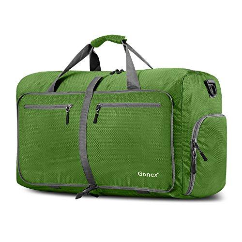 Gonex - Bolsa de Equipaje/Viaje de Duffel Plegable Impermeable y Resistente 60L Travel Bag para Viaje/Deporte Verde Claro