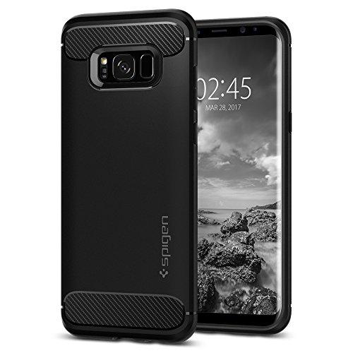 Spigen Rugged Armor Cover Galaxy S8, Assorbimento Acustico e Struttura in Fibra di Carbonio Custodia per Samsung Galaxy S8 (2017) - Nero