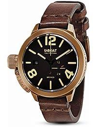 U-Boat Classico reloj automático, bronce, marrón, 50mm, 8104