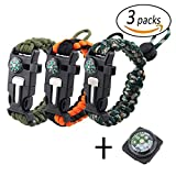 Best Paracord Bracelets - REKYO Bracelet de survie 3pcs, Paracord Bracelet, Bracelet Review
