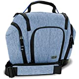 UTX Mochila Cámara de fotos Reflex Bolsa Protectora DSLR Estuche de Cámara Digital como Nikon D3300 D750 D5300 D5500 Canon EOS 1300D 100D 700D 750D Sony Alpha A6500 A6300 A6000 y otras! | Color Azul