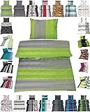 Microfaser Bettwäsche Set 2 Größen viele schöne Designs, 135x200 cm Kissenbezug 80x80 cm Tomke