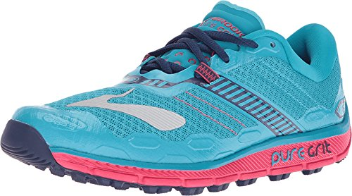 brooks Puregrit 5, Zapatos para Correr para Mujer, Multicolor (Peacock