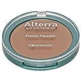 Alterra Finish Powder 02 Medium 1 x 9 g transparentes Puder, mit Bio-Tapiokastärke, Bio-Acai-Öl und Bio-Aloe Vera, vegan, zertifizierte Naturkosmetik