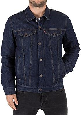Levi's Hombre Down Fill Styled Trucker Jacket, Azul