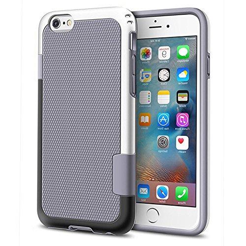 """iPhone 6 / 6s Funda - [Ultra Hybrid] HanLuckyStars Funda Carcasa Case TPU Matte Shell Exact Bumper Tope Shock Protección Gota Anti-Arañazos , Choque Absorción Borrar Espalda para Apple iPhone 6 / 6s 4.7"""" (Gris)"""