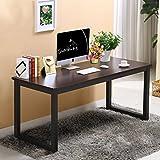 Panana Design Laptoptisch Schreibtisch 120cm Moderner Bürotisch PC Tisch Arbeitstisch für Arbeitzimmer 2,5cm Dick MDF - Schwarz
