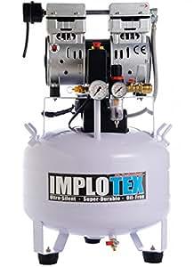 850W Silent Flüsterkompressor Druckluftkompressor nur 55dB leise ölfrei flüster Kompressor Compressor IMPLOTEX