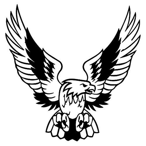 osmanthusFrag Mode Adler Wildtier Aufkleber Dekorative Pet Reflektierende Auto Fenster Tür Aufkleber Geschenk Black - Pet-tür-fenster