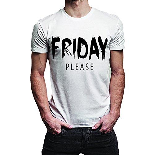 T Shirt Maglia Uomo Friday Please Bianca XXL Poliestere