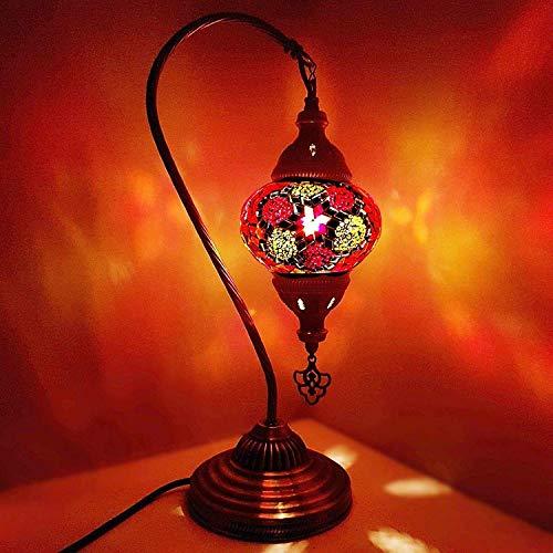 Turkish Lampe / Marokkanische Lampe Tiffany Stil Glas Schreibtisch Tisch Lampe - MC11_ Schwanen- -