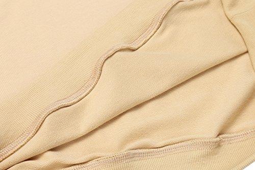 Finejo Damen Kapuzenpullover Herbst Winter Sweatshirt mit Kapuze und langarm einfarbig sweatshirt Hoodies Beige