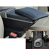 Per Kaptur Captur QM3 14-17 Auto Center Console Bracciolo Box Scatola bracciolo Accessori con Portabicchieri e Posacenere rimovibile Organizer Nero