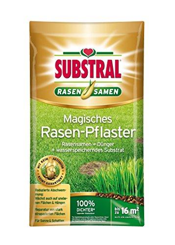asen-Pflaster, Rasenreparatur, Mischung aus Rasensamen, Premium Keimsubstrat und Dünger, 3,6 kg für bis zu 16 m² ()