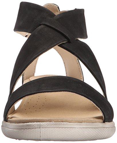 Ecco Ecco Damara Sandal, Sandales Bride cheville femme Noir - Schwarz (BLACK02001)
