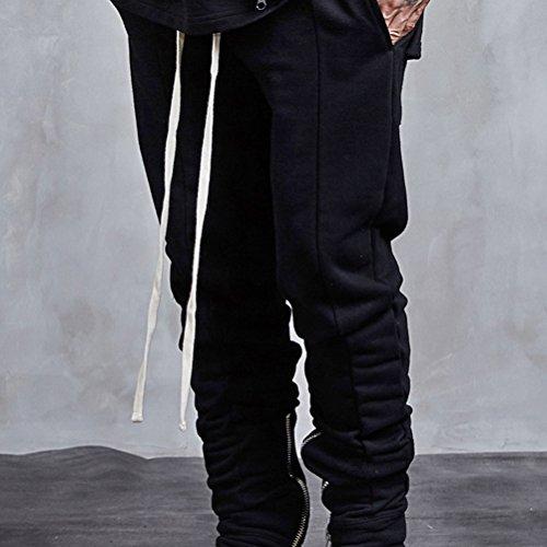 Miagolio Pantaloni da Uomo Ragazzo Di Tuta Con Cordoncino Nero