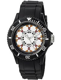 Disney Men's 'Mickey Mouse' Quartz Plastic Casual Watch, Color:Black (Model: WDS000365)
