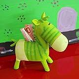 Exner Zebra Spardose aus Polyresin, grün, H ca. 19 cm | EX-222899 | 4045406196687