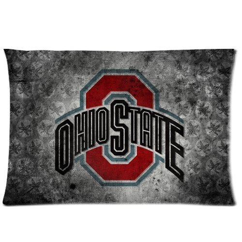Custom Home Bedding Rectangle Pillowcase Ohio State Buckeyes Pillow Cushion Case Standard Size 20*30 Inch (Twin Sizes)