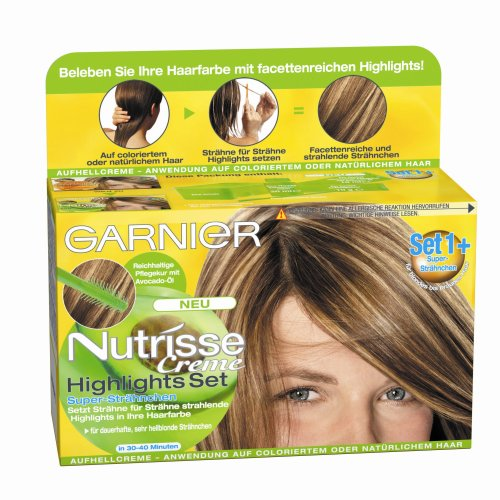 Garnier Nutrisse Creme Highlights Set 1+ für Blonde Strähnchen Haar mit Avocado-Öl, 3er Pack (Haarfarben-highlights)
