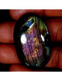 70.00cts 100% natural color morado Labradorita ovalada cabujón AAA piedras preciosas