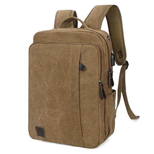 Koolertron-Mochila-Ligera-de-Tela-Porttil-Mochila-Bolsa-de-Deporte-Bolsa-de-Escuela-Universitaria-Bolsa-Porttil-con-puerto-USB-Se-adapta-a-14-Laptop-Notebook