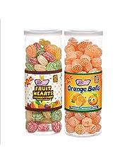 JUSTONE Fruit Hearts and Orange Candy, 460 g