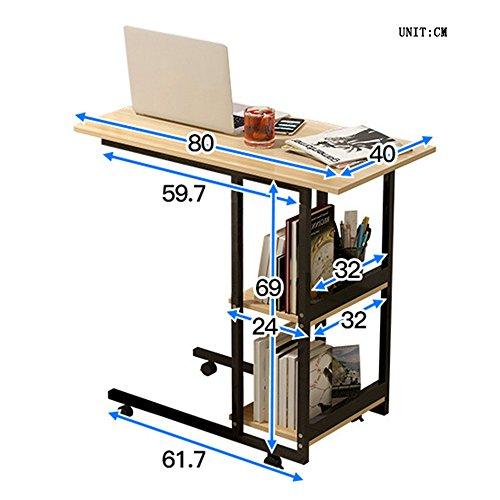 Tische ZR- Nachttisch Faul Notizbuch Computertisch Es Kann Sich Bewegen Haushalt Schlafzimmer Einfach Schreibtisch Multifunktion Bücherregal Bed Nutzung Fahrbarer (Farbe : A)