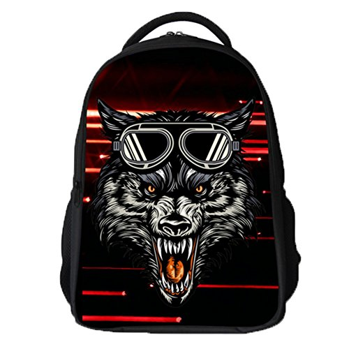Ohmais 3D Tier Rücksack Rucksäcke Backpack Daypack Schulranzen Schulrucksack Wanderrucksack Schultasche Rucksack für Schülerin schwarz