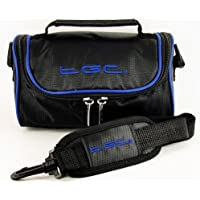 TGC ® Camera Case for Nikon Coolpix 8400 with shoulder strap and Carry Handle (Jet black & Dreamy Blue)