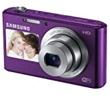 Samsung DV150F 16.2MP Smart WiFi Digital Camera with 5x Optical Zoom and 2.7Front and 1.5Rear Dual LCD SCREENS (Purple) Color: PLUM Portable Consumer Electronic Gadget Shop