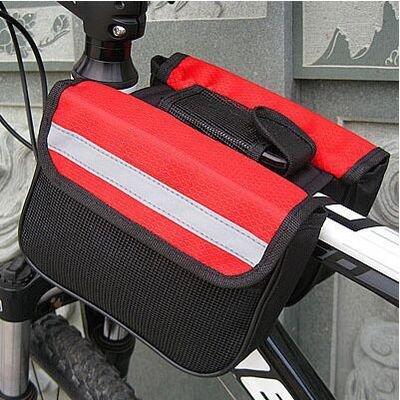 XY&GKFahrräder Doppelzimmer Satteltaschen Mountainbikes einziges Auto Taschen Sattel Lkw Vorderachse, zwei seitliche Fahrzeug Paket Ausrüstung, machen Ihre Reise angenehmer gules