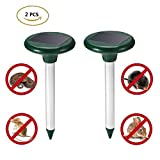 Dare Color Solar Mole Repeller, 2 PCS Ultrasonic Rat Mouse Repellent & Deterrent Outdoor Rodent Chaser Spike For Garden Yard Field Farm Glassland (Green)