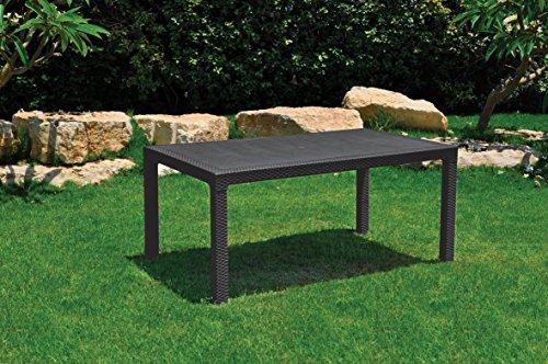 Keter Melody Outdoor Garden Furniture Rectangular Patio ...