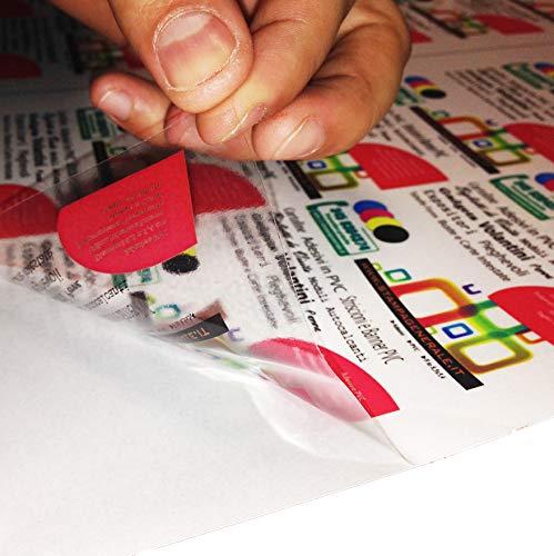 2AINTIMO Carta Adesiva * A3 A4 A5 * Trasparente * per STAMPANTI Laser * 1 5 10 15 20 25 50 100 pz * PVC Vinile (10, A3 (297x420mm))