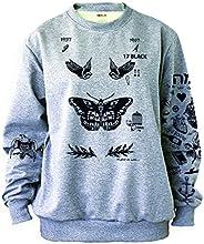 Noonew Women's Butterfly Tattoos Sweatshirt