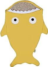 Creamy Elephant - Coperta a sacco a pelo per bebè, in 100% cotone, unisex, per bebè da6a18mesi, misura media