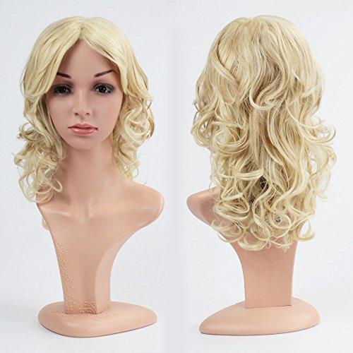 ull Hair Perücke lang gewellt Wave Haar Hitzebeständig Perücken für cosplay, Party, Kostüm, Halloween, täglich mit Kostenlose Perückenkappe (Wendy Halloween Kostüme)