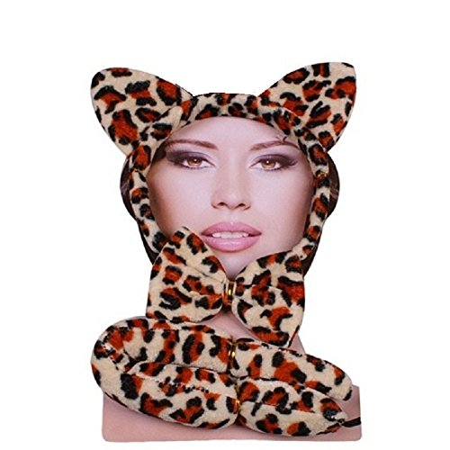Damen Herren Halloween Klaue Hörner Sfx Kit Handschuhe Lack Maske Kap Makeup Latex Blut Perücke Zubehör ()