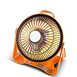Calentador Pequeño Solar Doméstico Mini Pequeño eléctrico de Ahorro de energía Mesa de Estudiantes Dormitorio Ventilador Asador Estufa (Color : Orange)