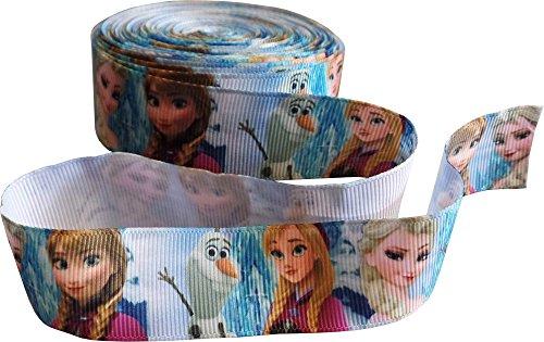 Frozen Anna, Elsa & Olaf Grosgrain Gedrucktes Band 1