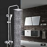 Hongyans Ultra Thin Square Style Chrom Wasserfall Dusche Wasserhahn Set Badewanne Dusche Mixer Regen Bad Dusche Kit