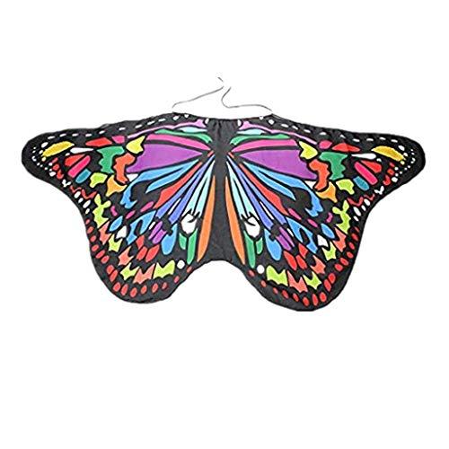 ZEELIY Karneval Fasching Halloween Parties Kind Junge Mädchen Böhmen Schmetterlings-Schal Kleid Zubehör