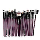 LEEDY Laine Set De Pinceaux,22Pcs / Set Ensemble De Pinceaux De Maquillage Outils De Maquillage Trousse De Toilette En Visage Yeux