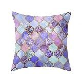 yoler Kissen Fall dekorative Sofa Kissen, Satin 44,5x 44,5cm Bright Farbe, Satin, Classics Purple, 46 x 46 cm