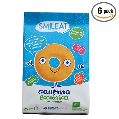 Smileat - Galletas Ecológicas De Espelta Y Manzana Con Aceite De Oliva...
