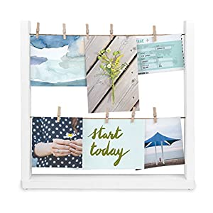 Umbra 1004415-660 Hangit Desk Photo Display White, Wood, 34.29 x 33.02 x 6.35 cm