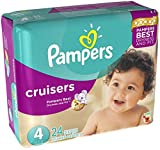 #9: Pampers Cruisers Diapers Size 4 24 CT (Pack of 6)