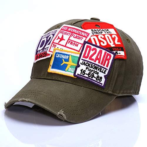 zhuzhuwen Europäische und amerikanische Mode Flut Hut High-End-Aufkleber Herren Outdoor Baseball Cap Damen Sonnenhut 1 einstellbar